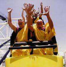 monks on coasters