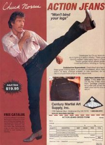 I think Chuck Norris jeans are probably always appropriate.