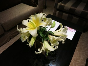 Lilies (my favorite) in one of our rooms.