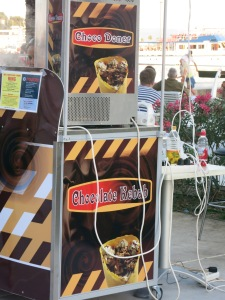 Further proof that Croatia is magical: The Choco Doner. I didn't even know I needed that.