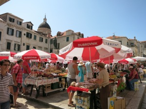Dubrovnik's farmer's market, which had some amazing candied almonds, lemon and orange peels.