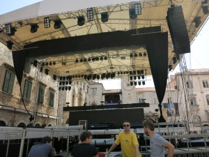 Severina's stage the day of the show.