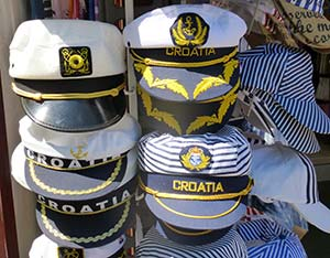 The ubiquitous hats. I, in full disclosure, may actually have one of those striped ones there.