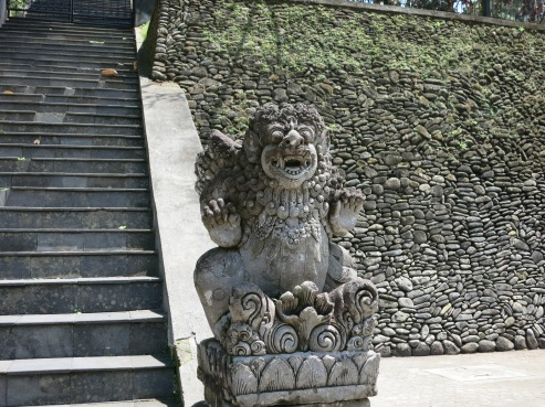 Scary Balinese stone carving