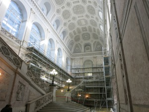 Entry hall at the Royal Palace, Naples