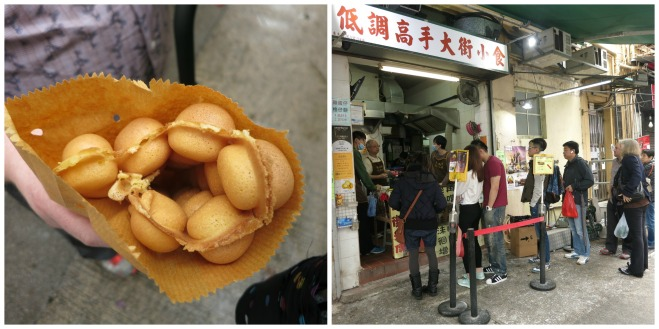 Egg waffles in Hong Kong