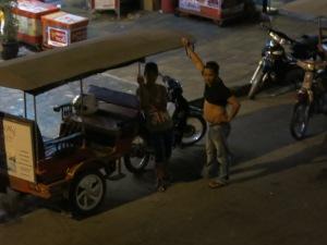 Cambodian tuk tuk drivers