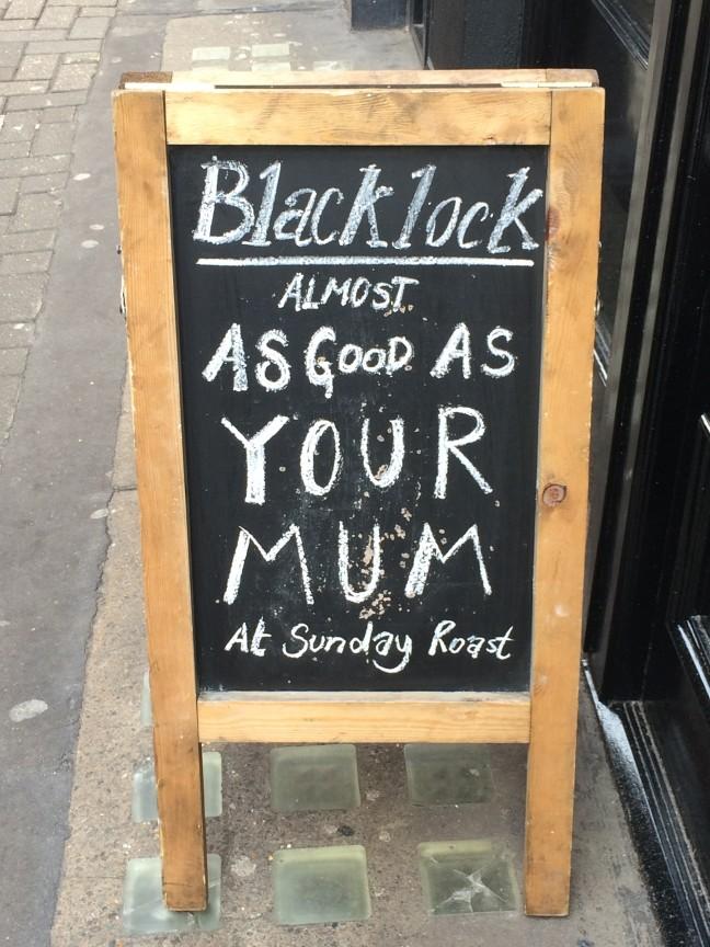 Blacklock signage