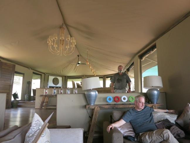 Main tent & bar at Lemala Kuria Hills, Serengeti